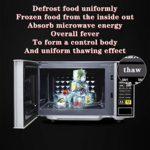 DUTUI Micro-Ondes Ménage Smart 21L Mini Four À Micro-Ondes Multifonctionnel Rotatif Décongélation Couleur des Aliments: Noir