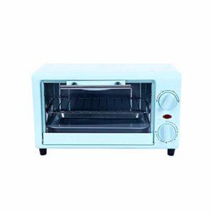 Hchao Mini Four électrique de Cuisson, Cuisson Uniforme Double Face Double Couche, Grande fenêtre Transparente, Porte à 90 °, Fabrication de gâteaux, barbecues, tartes aux œufs, etc, Bleu.