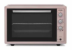 ICQN 70XXL Mini four | 1800 W | Mini four avec éclairage intérieur et chaleur tournante | Four à pizza | Double vitrage | Tournebroche | Fonction minuterie | émaillé
