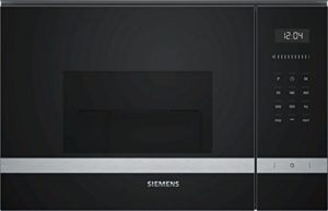 Micro ondes Grill Encastrable Siemens BE555LMS0 – Micro-Ondes + Grill Intégrable Noir et inox – 25 litres – 900 W