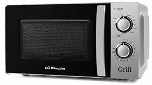 Orbegozo MIG 2138 Micro-ondes avec grill avec 20 litres de capacité, 5 niveaux de fonctionnement et 3 fonctions combinées, minuterie jusqu'à 30 minutes, 700-900 W