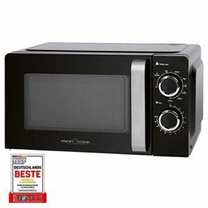 ProfiCook PC-MWG 1208 Micro-ondes avec grille, espace de cuisson 17 l, grill 900 W/micro-ondes 700 W, 6 niveaux de puissance, minuterie 30 minutes avec signal de fin de course
